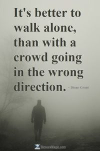 than with a crowd going in the wrong direction