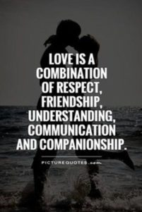respect, friendship, understanding and communication