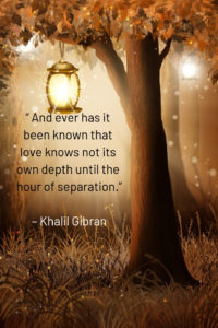 until the hour of separation
