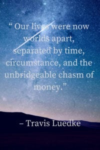 separated by time circumstance and money