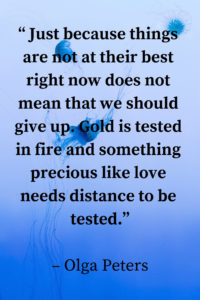 love needs distance to be tested