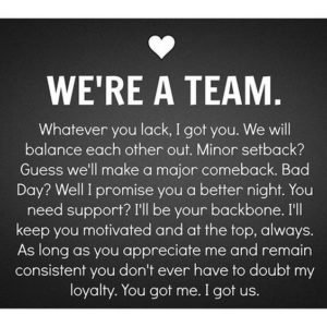 we're a team quote