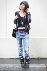 Boyfriend Jeans Outfit Grunge Style