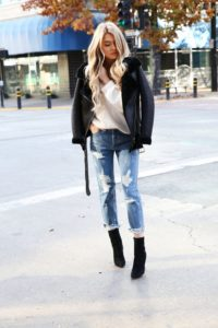 Aviator and Boots with Boyfriend Jeans