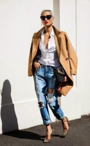 Front Row Chic with Boyfriend Jeans