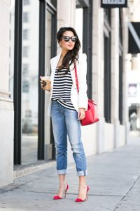 Boyfriend Jean Outfit with Parisian Style