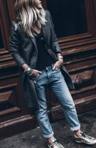 Boyfriend Jeans Teamed with Tailoring