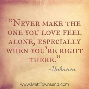 Never Feel Alone quote