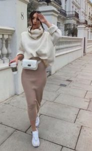 Casual Autumn Style with Pencil Skirt