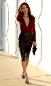 Evening Wear Elegance Pencil Skirt Outfit