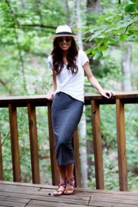 Casual Summer Chic Pencil Skirt