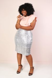 Sparkling Sequins Pencil skirt