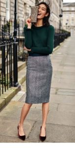 Classic Workwear Chic with Pencil Skirt