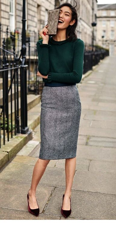 28675e3bd26d 4Classic Work Wear Chic. Invest in a good pencil skirt ...
