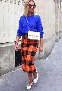 Colour Clash Pencil Skirt Outfit