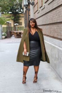 Pencil Skirt with Statement Overcoat