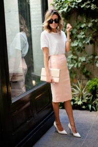 Chic Neutral Tones Pencil Skirt Outfit