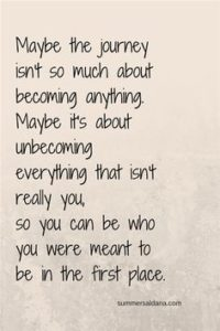 become who you are quote