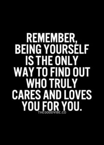 good being yourself quote