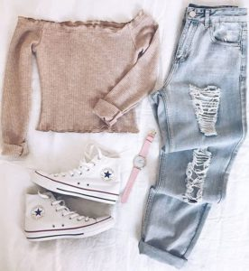 cute outfit with jeans