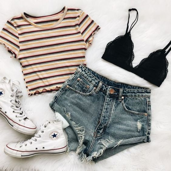 summer outfit and jeans