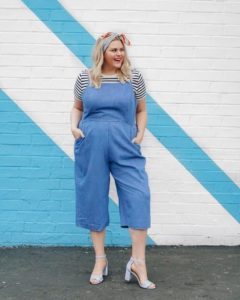 Baby Shower Outfit Chambray Jumpsuit