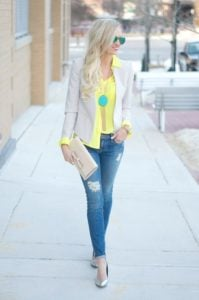 Jeans and a Burst of Yellow