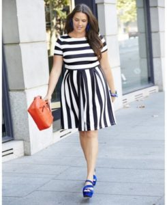 Monochrome Dress with Pops of Colour