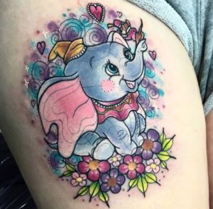 Adorable Dumbo Tattoo