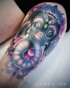 New School Elephant Tattoo