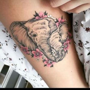 Illustrative Elephant Tattoo