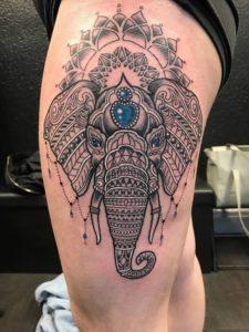 Indian Inspired Elephant Tattoos