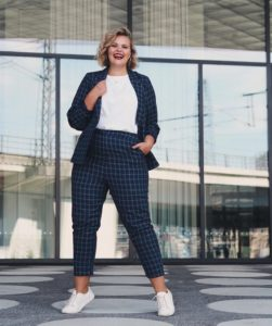 The Checked Suit Tomboy Outfit