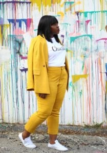 Tomboy Outfit with Bright Tailoring