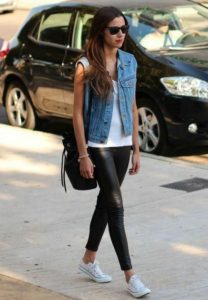 Leather and Denim Outfit