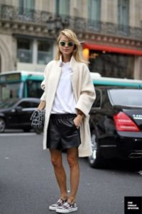 Little Leather Shorts Tomboy Outfit