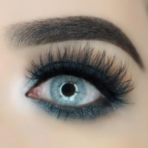 Deep Pewter Eyeliner and Heavy lashes