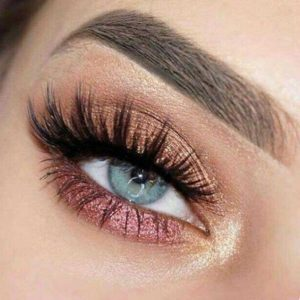 Pink and Gold Eye Shadow