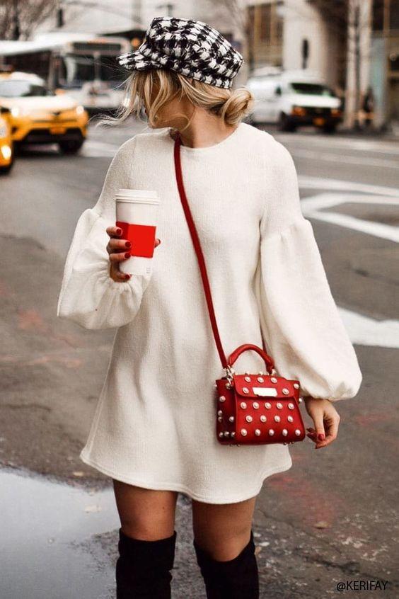 accessorized sweater