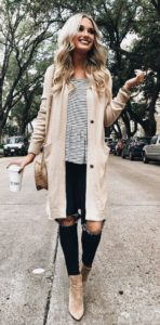 fall long cardigan outfit