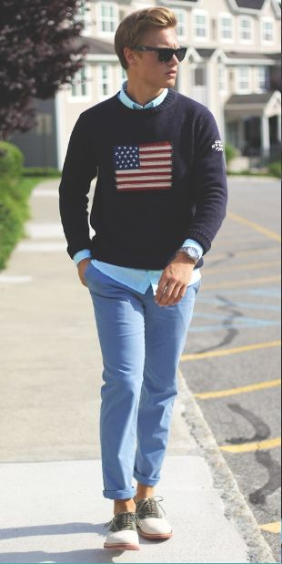 usa flag preppy outfit