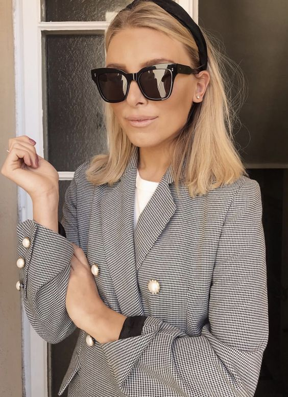blazer and sunnies