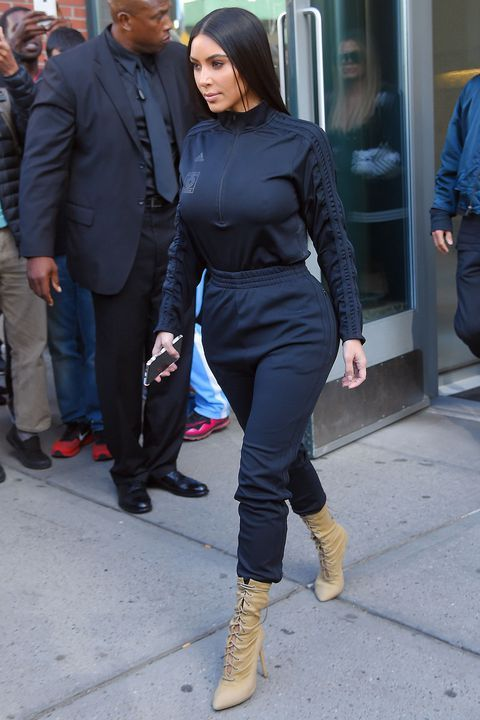kim k sweatsuit outfit