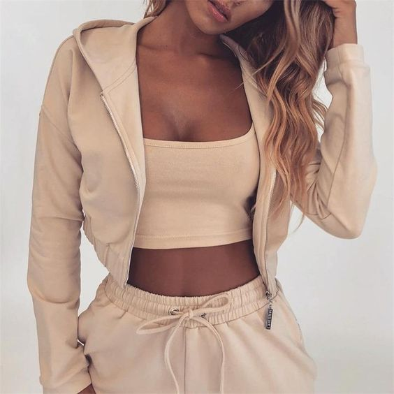 beige sweatsuit