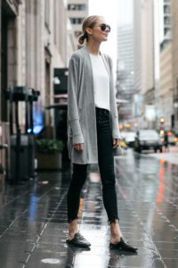 long minimalist cardigan outfits