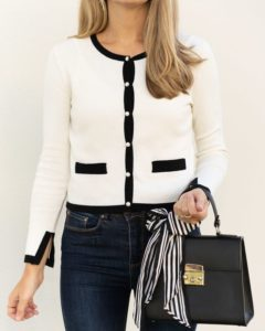 white cardigan outfit