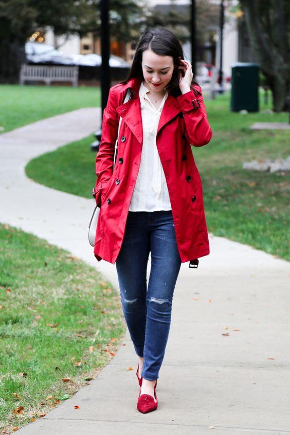 bright rain coat