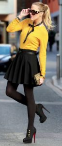 girly yellow shirt outfit