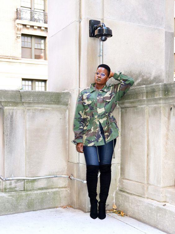 camo jacket outfits