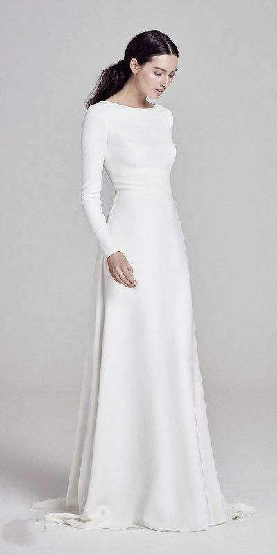 minimal long sleeve gown